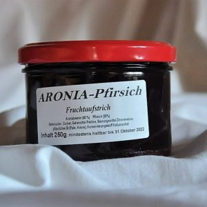 Fruchtaufstrich Aronia – Pfirsisch 250 g