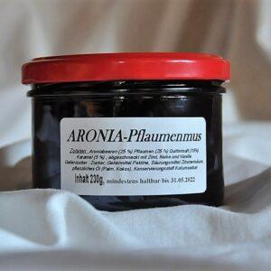 Aronia – Pflaumenmus, abgeschmeckt mit Zimt, Nelke und Vanille 250 g