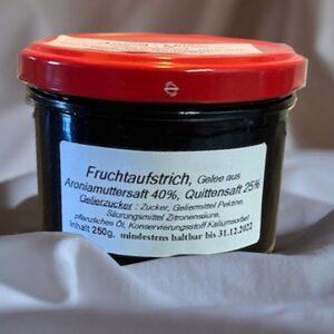 Fruchtaufstrich Aronia – Quitte (Gelee) 250 g